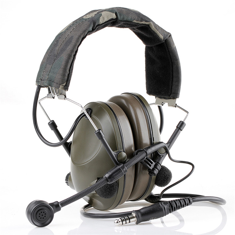 Tactical Green Color  Military Version Sound-Trap Headset  Paintball Accessory For Outdoor Hunting Sports CL42-0025