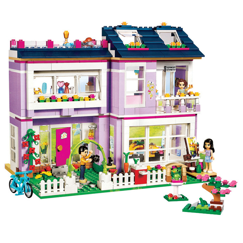 731pcs Friends Heart Lake City Princess Emma's House 10541 Model Building Blocks Bricks Toys For Children Christmas Gift Legoing loz blocos building blocks architecture model rockefeller center toys for children forge world city house buildings bricks 1003