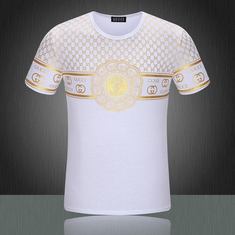 2015 Summer Style Luxury Brand Golden Logo Printed T Shirt For Man