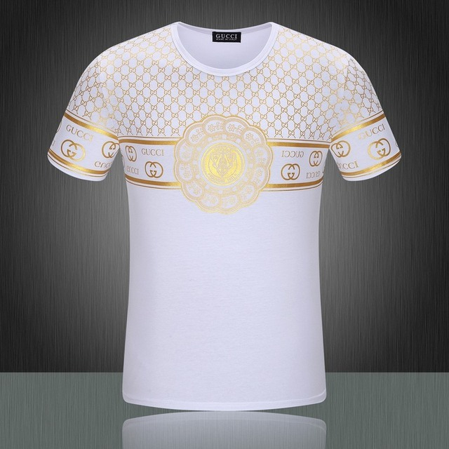 283de93119af 2015 Summer Style Luxury Brand Golden Logo Printed t-shirt For Man Fitness  Beach Sport Top Tees Business Formal tshirt Sport 3XL