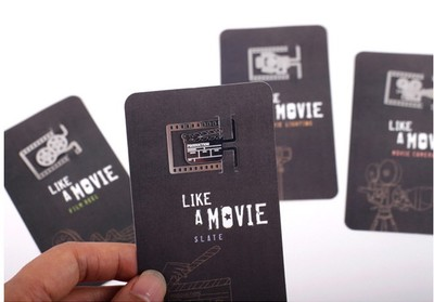 4PCS/LOT Like A Movie Bookmarks Camera Film Reel Slate Movie Lighting Metal Book Mark