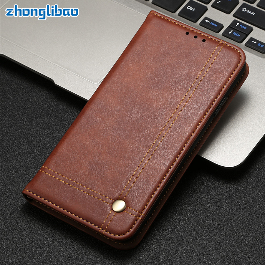 <font><b>Mi9t</b></font> Pro Magnetic Flip Case for <font><b>Xiaomi</b></font> Redmi K20 Pro Mi 9t Luxury Retro Leather Wallet Stand Card Holder Redmi K20 Phone Cover image