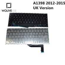 Wolive Genuine UK Brand new Keyboard language version UK For Macbook Pro Retina 15″ A1398 2012~2015 Replacement