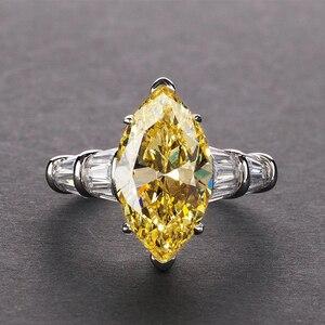 Image 2 - PANSYSEN Luxus Moissanite Verlobung Ringe für Frauen Neue Design Mariquesa Schneiden 925 Sterling Silber Schmuck Ring Edlen Schmuck