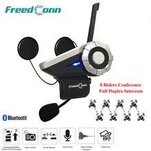 Latest T-Rex Full Duplex Motorcycle Group Talk System 1500M 8 Riders BT Interphone Bluetooth Helmet Intercom Headset + FM Radio