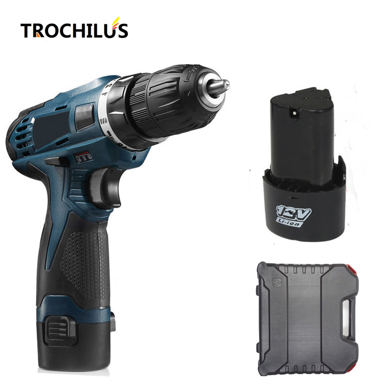 12V Cordless Drill  Multifunction electric Tools Screwdriver with Lithium Battery * 2 Mini electric Drill Household Toolbox motospeed v40 usb wired gaming mouse with rgb backlights