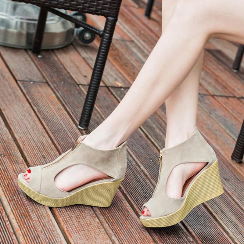 E TOY WORD Summer Shoes Woman Platform Sandals Women High Heel Sandals Peep Toe Gladiator Wedges Women Sandals zapatos mujer 2