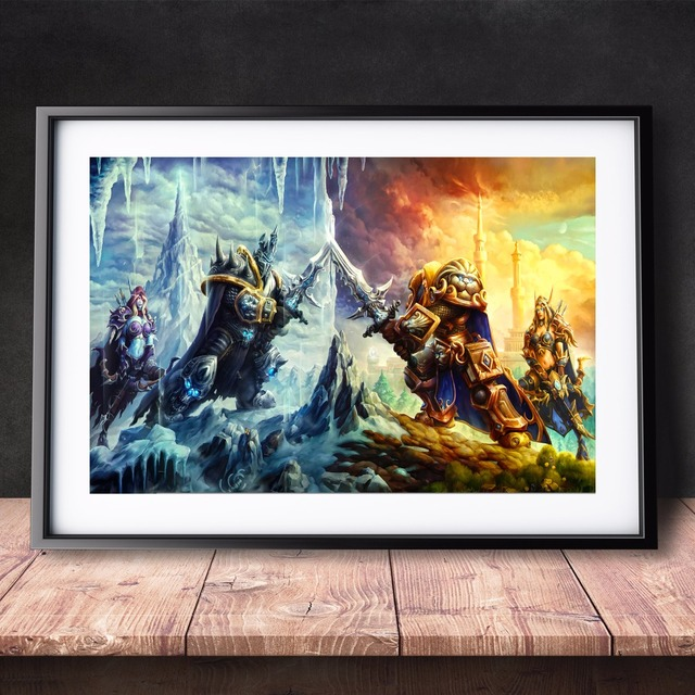 World Of Warcraft Watercolor Canvas Art Print Painting ...