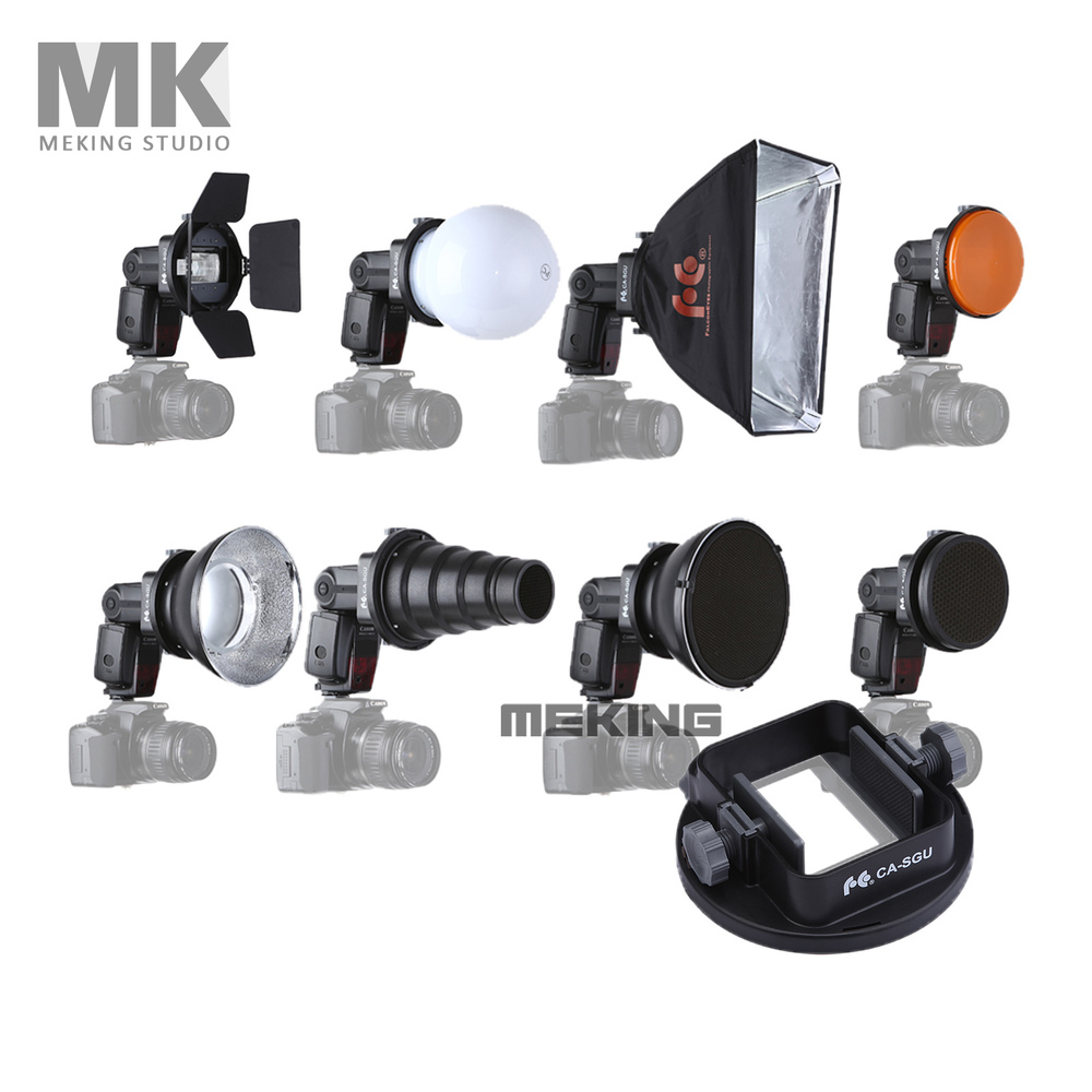 Meking Flash Accessori K9 (Alette snoot softbox a nido d'ape disco di bellezza/diffusore di montaggio) per speedlite speedlight flash di luce