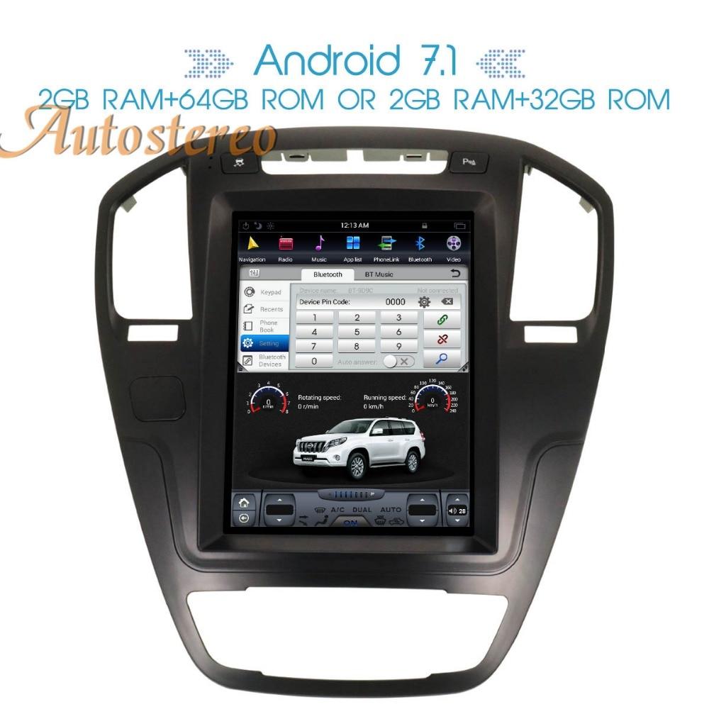 Pur Android 7.1 Voiture de Navigation GPS de voiture Pour Opel Insignia Vauxhall Holden CD300 CD400 Stéréo Headunit Sat Nav multimédia pas DVD
