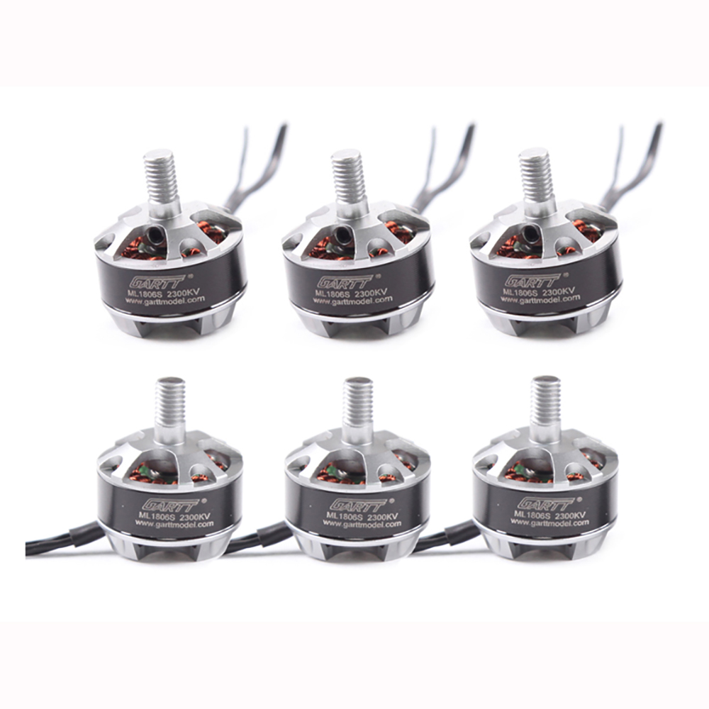 6pcs GARTT ML1806S 2300KV Brushless Motor With Nut For Mini Quadcopter Helicopter CCW CW