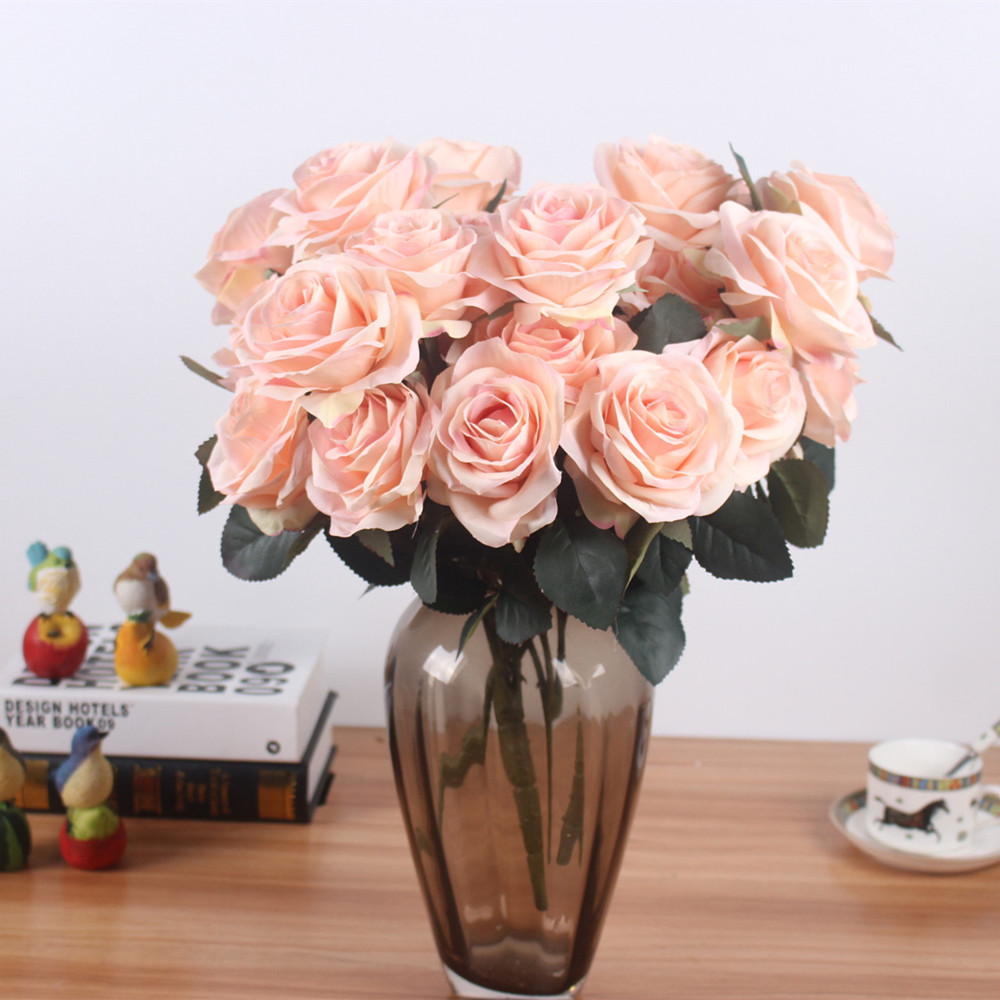 Artificial Silk 1 Bunch French Rose Artificial Flower For Wedding And Party Accessory 1