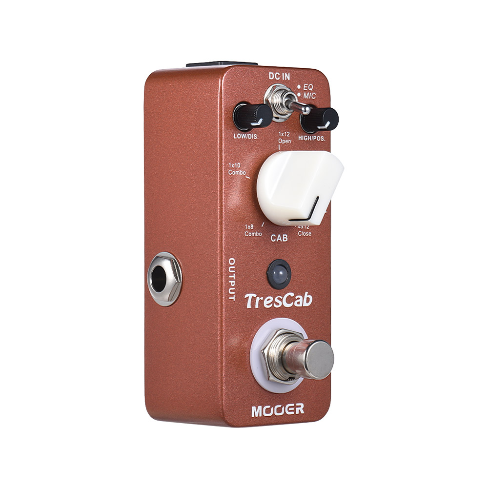 mooer trescab cabinet simulated simulator guitar effect pedal true bypass full metal shell in. Black Bedroom Furniture Sets. Home Design Ideas