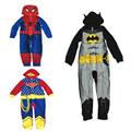 Free Shipping 5pcs/lot Cartoon Spiderman/Batman Hooded Pajamas for Boys