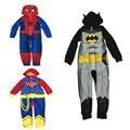 O Envio gratuito de 5 pçs/lote Dos Desenhos Animados Spiderman/Batman Com Capuz Pijama para Meninos