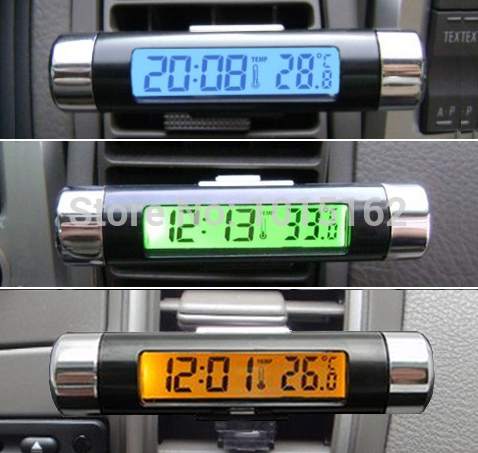 Mini Electronic Clock For Car Digital Car Clock Thermometer
