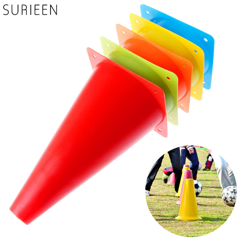 1Pc 23cm Sports Agility Cone Marker Cones Road Traffic Speed Marker Safety Soccer Football Training Marker Red/Yellow/Blue/Green