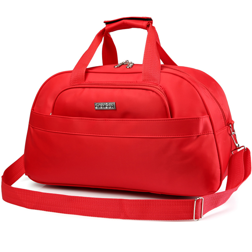 Women Travel Bags 45L Fashion Waterproof nylon Large Capacity hand Luggage Duffle Bag red Casual Travel shoulder crossboday Bag new women travel bags fashion printed canvas large capacity waterproof trip luggage duffle bag casual travel shoulder bags dh11