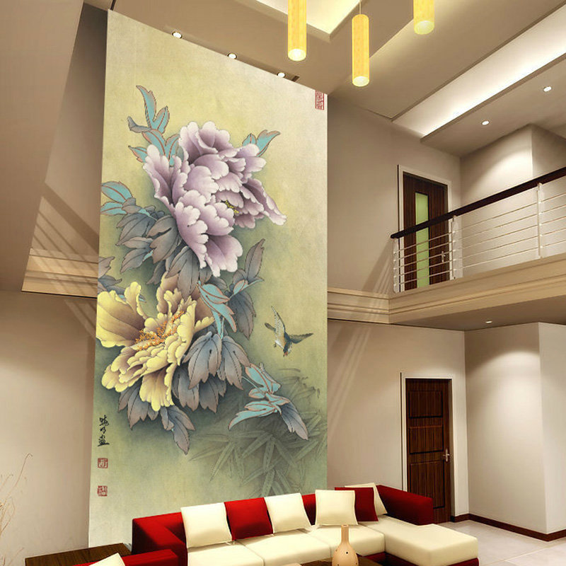 Custom waterproof large mural green sofa 3D stereoscopic wallpaper wall paper bedroom wall classical Chinese style peony flower custom baby wallpaper snow white and the seven dwarfs bedroom for the children s room mural backdrop stereoscopic 3d