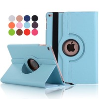 For Ipad Air 2 Case Lichee Grain 360 Degree Rotate Full Body Protective Cover Flip For