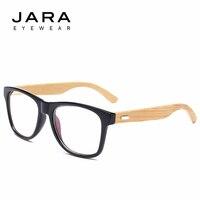 JARA Bamboo Legs Black Frame Fashionable Retro Glasses Frame