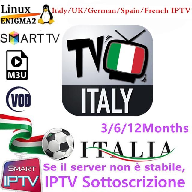 Best Italia IPTV M3u Subscription Iptv Italy UK German Albania Mediaset Premium VOD For Android Box Enigma2 Smart TV VLC