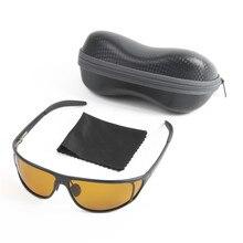 High Quality Titanium Metal Frame Fly Fishing Polarized Sunglasses Brown Yellow And Gray To Choose UV400 Fishing Sunglasses