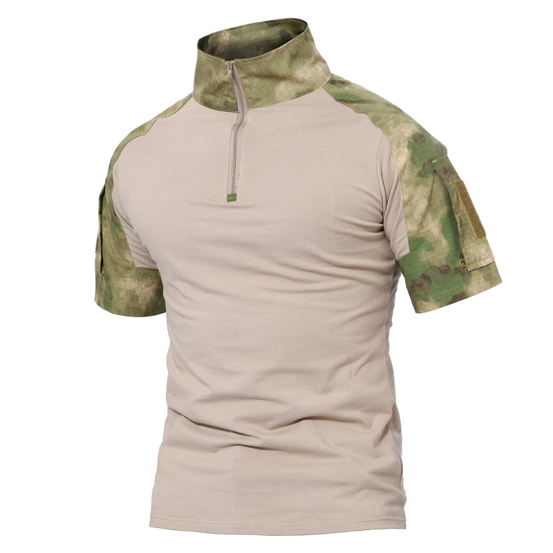 Tactical Men Multicam Short T Shirt Camouflage Hunting Combat Shirt Paintball Clothes Military Uniform Shirts