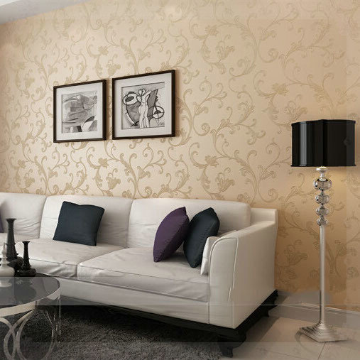 Beautifully non woven glitter metallic wallpaper bedroom ...