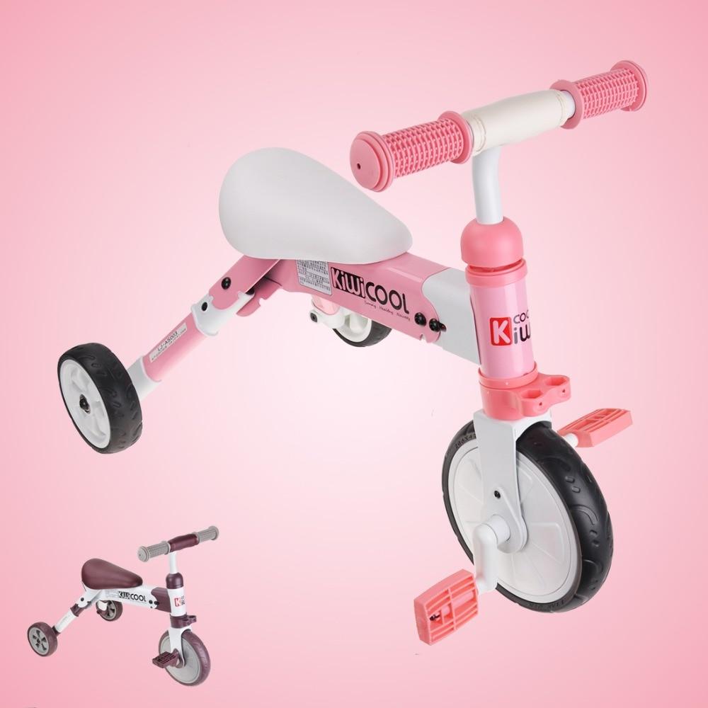 Детская три колеса баланс велосипеды легкий складной ребенок катание велосипед 2 в 1 для вождения велосипед подарок для От 1 до 6 лет детей