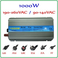 1000W MPPT Grid Tie Inverter 10.5 28VDC to AC 190 260V or 90 140V pure sine wave output solar wind power on grid inverter