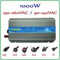 1000 Вт MPPT сетки галстук инвертор 10,5 28VDC к AC 190 260 В или 90 140 В чистая синусоида выход солнечной энергии ветра на сетке инвертор