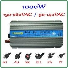 1000 Вт MPPT сетки галстук инвертор 10,5-28VDC к AC 190-260 В или 90-140 В Чистая синусоида выход солнечной энергии ветра на сетке инвертор