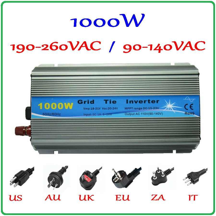 Micro Solar Grid Tie Power Inverter Pure Sine Wave Converter Pure Sine Wave Inverter 1000W Input 10.5-30V Output 230V Pure Sine Wave Power Inverter UK