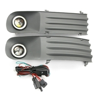 Car Fog Lights Lamps Angel Eye Grilles +Harness For Transporter T5 T28 T30 2003 2009