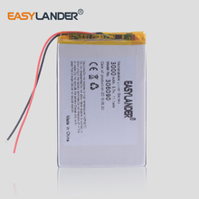 купить 3.7V  Lipo lithium polymer batteries 306090 3000mAh For 7 inch Tablet PC Universal Battery E-Book по цене 390.14 рублей