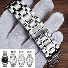 สแตนเลสสตีลนาฬิกาสายคล้องคอ 18 มม.,22 มม.,23 มม., 24 มม.สำหรับ Tissot 1853 T035 (เท่านั้น) ผู้หญิง/ผู้ชาย Watchband