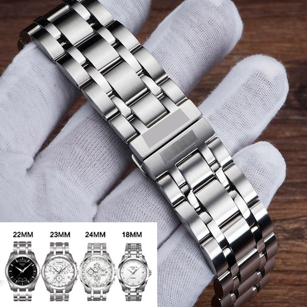 Pulseira de relógio de aço inoxidável pulseira de relógio 18mm, 22mm, 23mm, 24mm pulseira para tissot 1853 t035 (apenas) pulseira de relógio feminino/masculino
