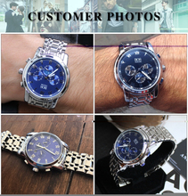 ANGELA BOS Sub Dial Work Waterproof Luminous Wristwatch Mens Watches Top Brand Luxury Famous Men's Watches For Men Quartz-watch