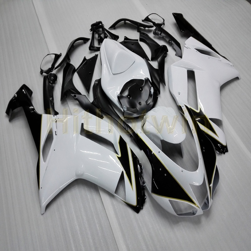Gifts+Custom white black motorcycle hull ZX-6R 07-08 636 <font><b>ZX6R</b></font> motor <font><b>fairing</b></font> for Kawasaki <font><b>zx6r</b></font> 2007 <font><b>2008</b></font> image
