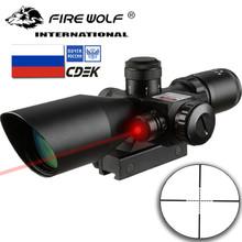 2 5-10X40 luneta podświetlana taktyczna luneta celownicza z czerwonym lunetą celowniczą tanie tanio fire wolf Karabin Obiektyw