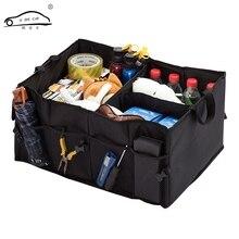 O SHI organiseur pour coffre de voiture pliable, meilleur pour SUV, fourgons, voitures, camions, Premium, boîte de rangement et séparation de voiture