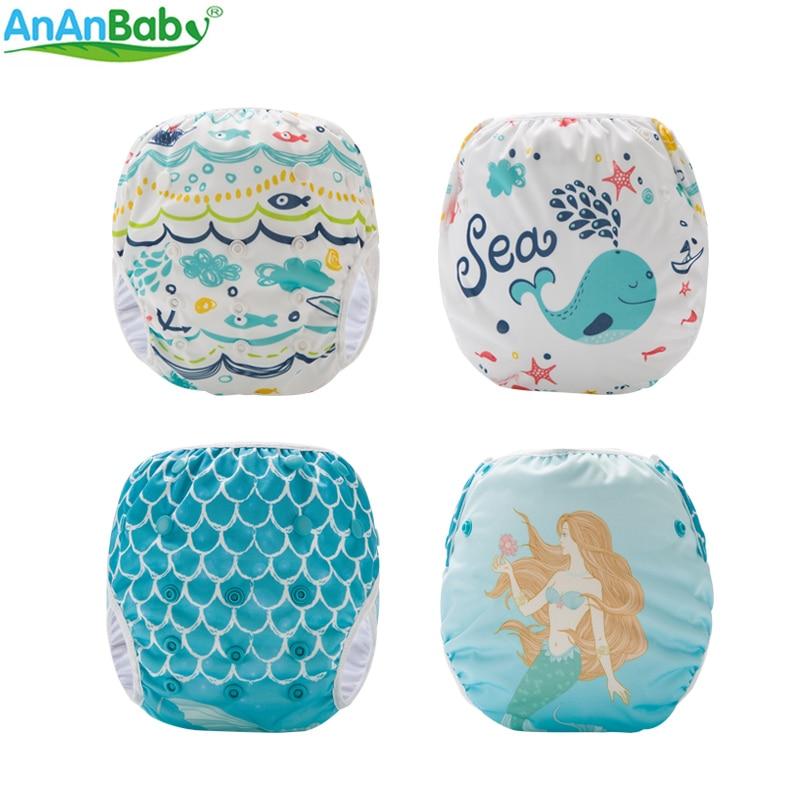 Swim Diaper Reusable Unisex Cute Cartoon Swimming Nappies Position Prints Summer Swimwear Pants SM-DY Series