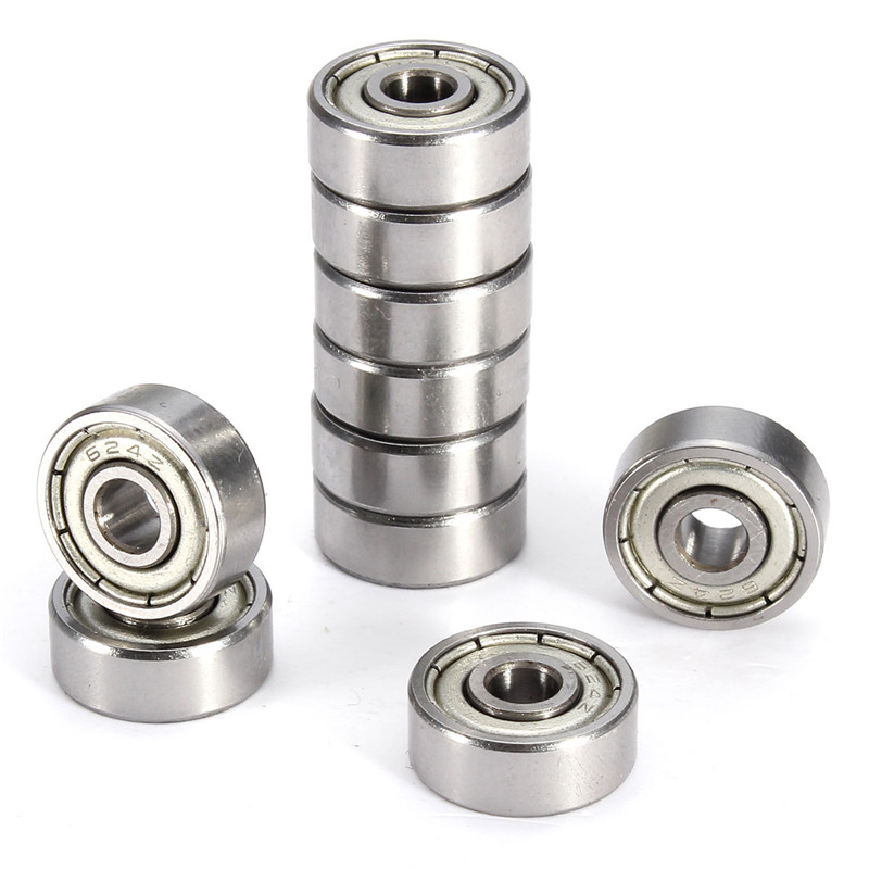 10Pcs 624ZZ Metal Miniature Ball Bearings Mini Steel ...