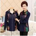 Бесплатная доставка 2016 у пожилых женщин верхняя одежда мать пальто весеннее пальто кардиган куртки 40 - 50 года среднего возраста женщина верхняя одежда 4XL