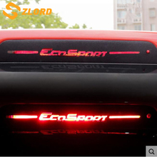 Zlord Brake Light Sticker Styling Carbon Fiber Brake light Sticker Car Decorative Cover for Ford Ecosport car accessories