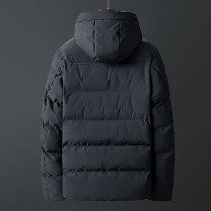 Image 5 - Casacos de inverno Dos Homens Engrossar Homens Quentes Parkas Com Capuz Casaco de Lã do Homem Jaquetas Outwear Jaqueta Masculina Transporte da gota ABZ107