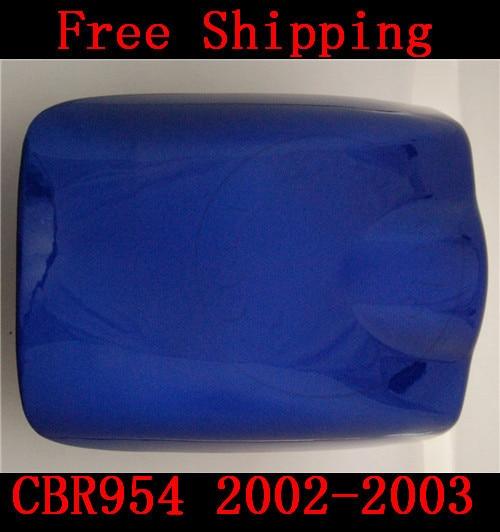 Для Хонда CBR 954 CBR954 2002-2003 мотоцикл крышка марки Seat Новый мотоцикл синий зализа заднего шептала крышку капота Бесплатная доставка