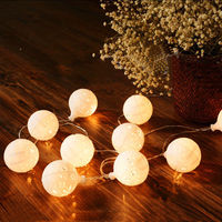 LumiParty 20LED Fairy White Snow Ball LED String Lights Decoration For Christmas Garland Decoration Battery Operated jk30