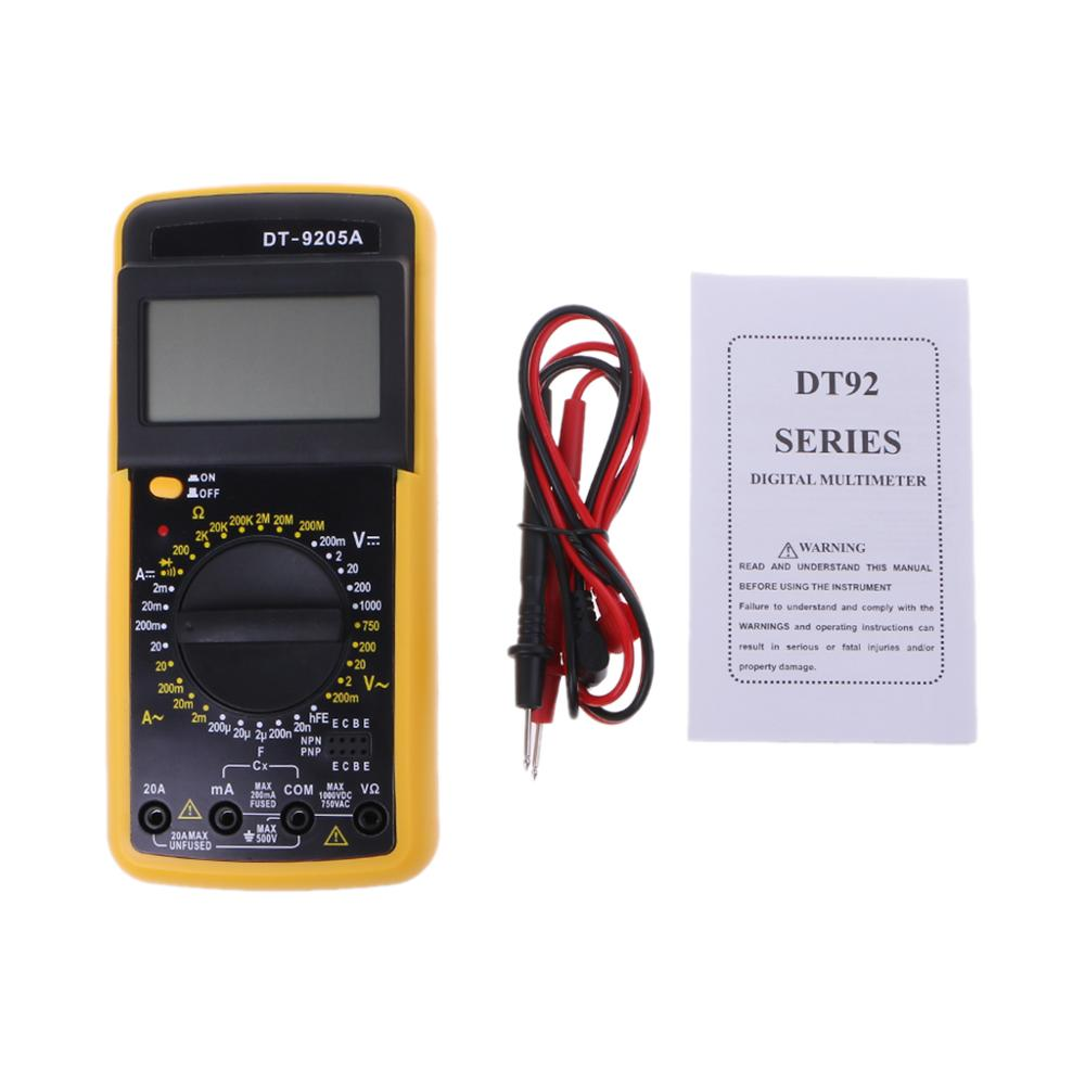 DT 9205A Digital Multimeter LCD AC DC Ammeter Resistance Capacitance Tester Tools in Multimeters from Tools